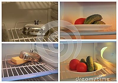 Food in fridge