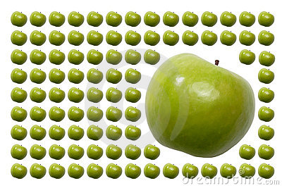 Food, Fruits, Green Apple with Tail