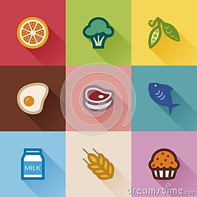 Food groups. Flat design