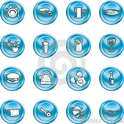Food Icon Button Series Set