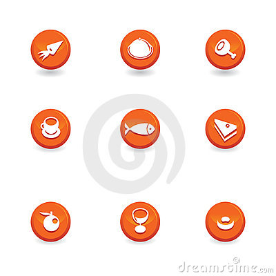 Food icon buttons