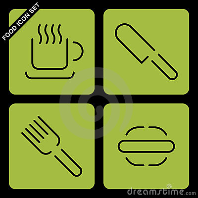 Food Icon Set Royalty Free Stock Images - Image: 19888259