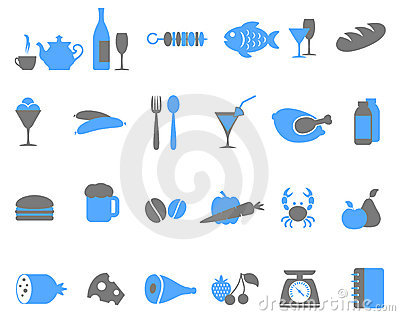 Food icon set.