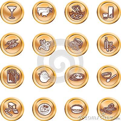 Free Food Icon Set Stock Photos - 2862423