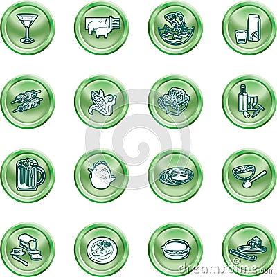 Free Food Icon Set Royalty Free Stock Photo - 2862515