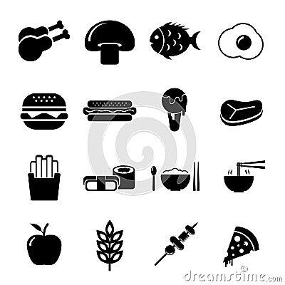 Free Food Icon Set Stock Photography - 33220742