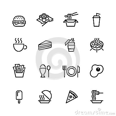 Free Food Icon Set Royalty Free Stock Photography - 45882637