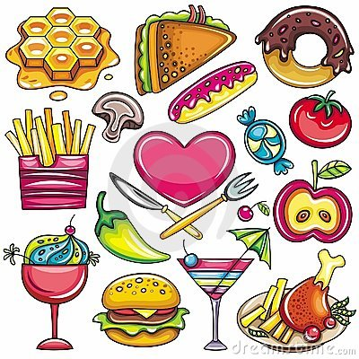 Free Food Icons 1 Stock Photo - 18573460