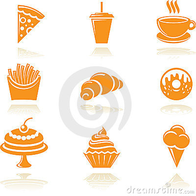Free Food Icons Royalty Free Stock Images - 13260839