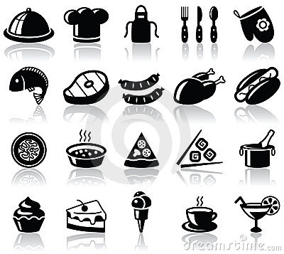Free Food Icons Royalty Free Stock Image - 16305316