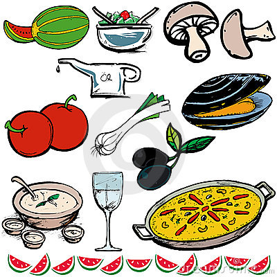 Free Food Icons Stock Image - 170901