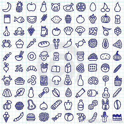 Free Food Icons Stock Image - 22154841