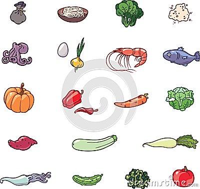 Free Food Icons Stock Photos - 24166423