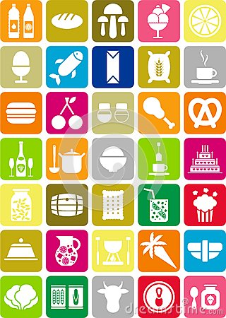 Free Food Icons Royalty Free Stock Image - 24786436