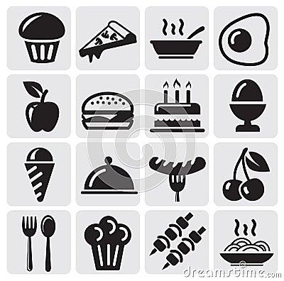 Free Food Icons Royalty Free Stock Photos - 25824898