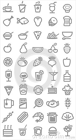 Free Food Icons Royalty Free Stock Photography - 32087397