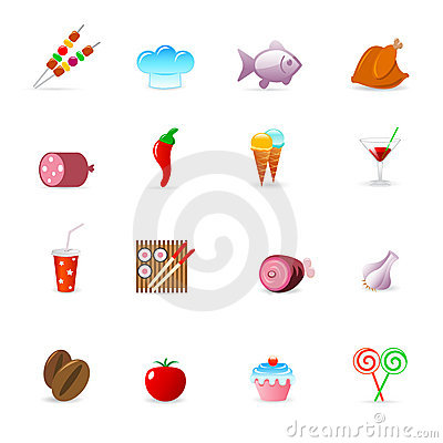 Free Food Icons Royalty Free Stock Photos - 8690498