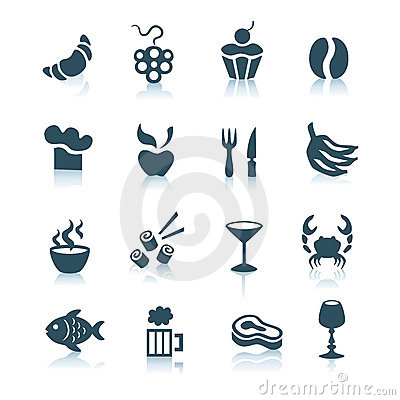 Free Food Icons, Part 2 Royalty Free Stock Photos - 8468578