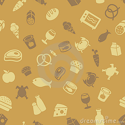 Food icons pattern
