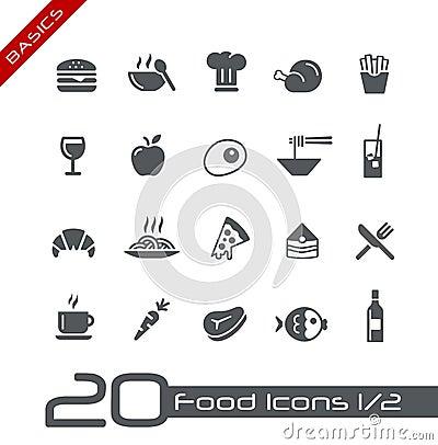 Free Food Icons - Set 1 Of 2 // Basics Stock Photo - 25188220