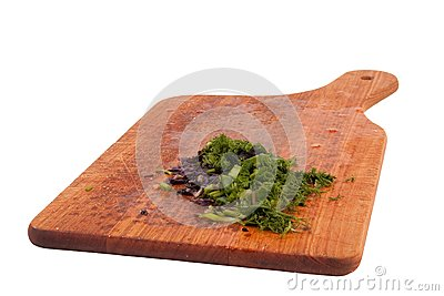 Food indgredients on cutting board
