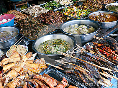 Food at kandal Market in Phnom Penh