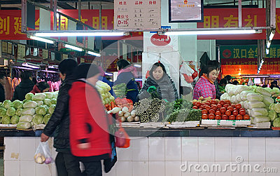 Food market Editorial Stock Image