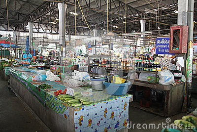 Food market in Chiang Mai - Thailand Editorial Photo