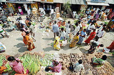 Food market in India Editorial Stock Image