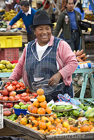 Food market - Saquisili - Ecuador Editorial Photo