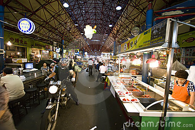 Food market, Seoul Editorial Photo