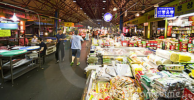 Food market, Seoul Editorial Stock Image