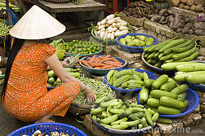 Food Market, Vietnam Editorial Photography