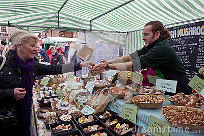 Food Market - Yorkshire - England Editorial Stock Photo