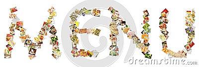 Food Menu Collage