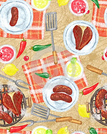 Food Passion Seamless Background