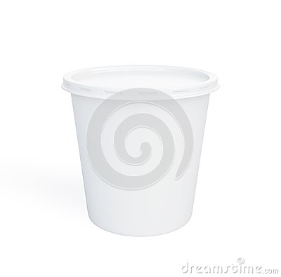 Food plastic container on a white background