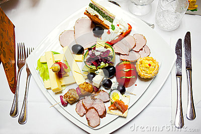 Food plate at ceremony