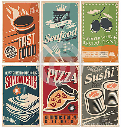 Free Food Posters Stock Photography - 42113462