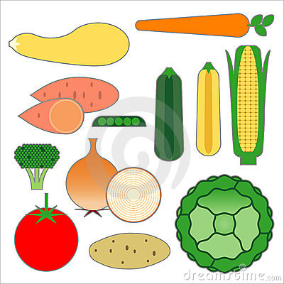 Food Pyramid Vegetable Food Items