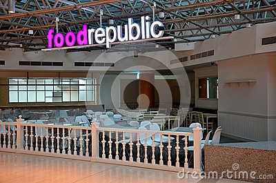 Food Republic food court Suntec City Singapore Editorial Photo