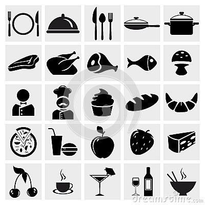 Food and Restaurant icons set