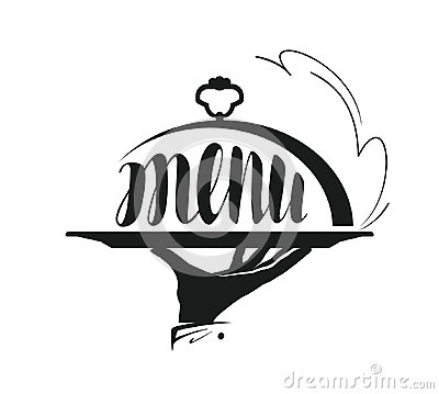 Free Food Service, Catering Logo. Icon For Design Menu Restaurant Or Cafe. Stock Image - 95874721