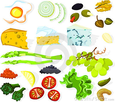 Free Food Set 01 Royalty Free Stock Images - 14409239