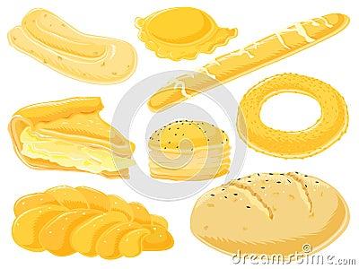 Food set - pie & pastry