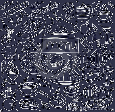 Free Food Sketch Royalty Free Stock Image - 21637516