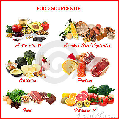 Free Food Sources Of Nutrients Royalty Free Stock Image - 24234786
