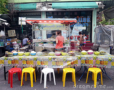 Food stall on the street Editorial Photo