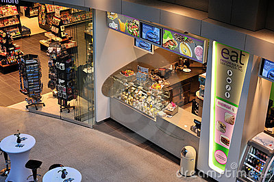 Food store in airport Editorial Photography