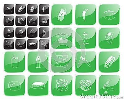 Food symbol1 vector